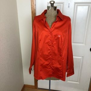 NWT Lane Bryant Orange Button Blouse Top